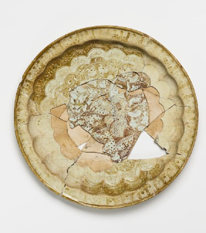 Eight fragments from a dish