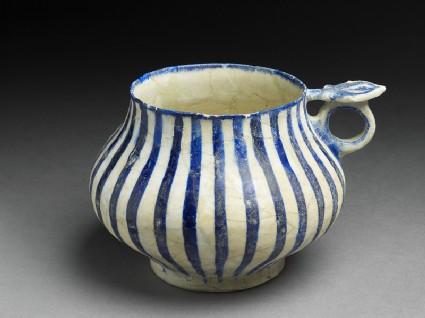 Tankard with blue stripes