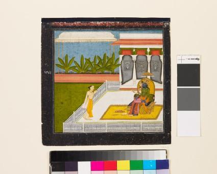 The poet Bihari Lal venerates Krishna and Radha