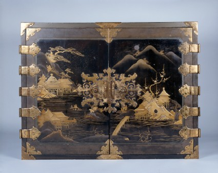 Cabinet with flowers and landscapes