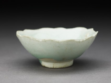 White ware cup and stand