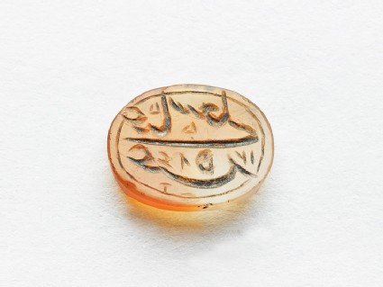 Oval bezel seal with nasta'liq inscription