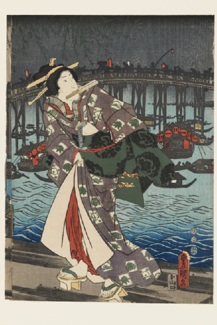 A courtesan on a jetty