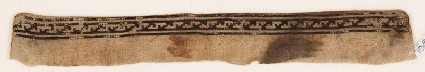 Textile fragment from a garment with stepped S-shapes