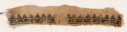 Textile fragment with S-shapes and stylized palmettes