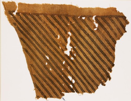 Textile fragment from a garment with bands of Z-shapes