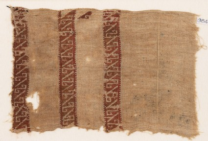 Textile fragment with reversed S-shapes