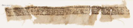 Textile fragment with linked lozenges