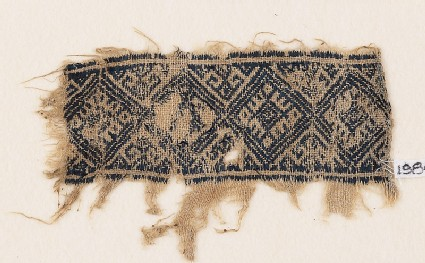Textile fragment with diamond-shapes