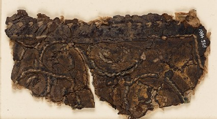 Textile fragment with tendrils and palmette