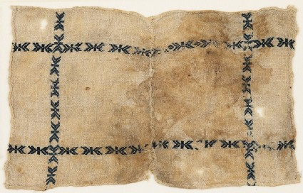 Textile fragment, possibly from a dish cover