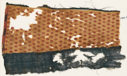 Textile fragment with flowers and lozenges