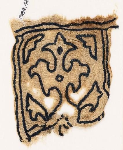 Tab with leaf