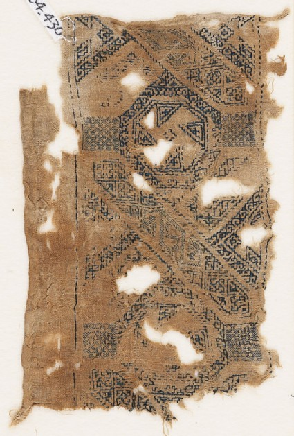 Textile fragment with band of interlace