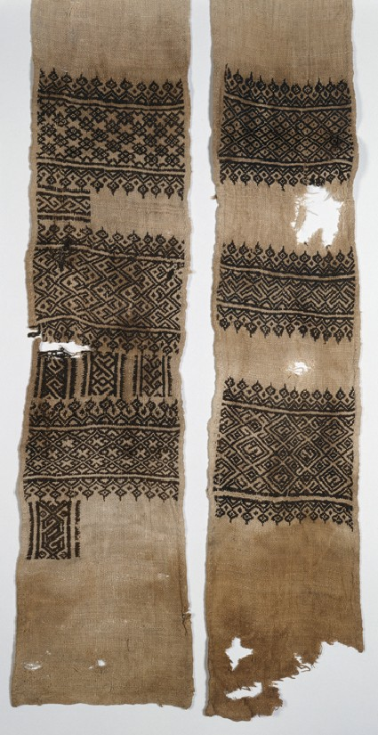 Textile fragment, possibly from a scarf or turban cover