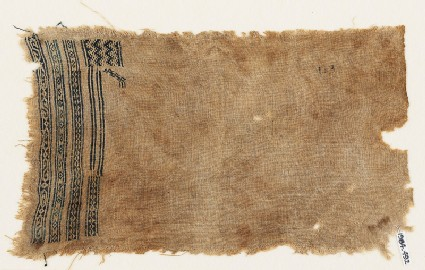 Sampler fragment with S-shapes, diamond-shapes, and crescents
