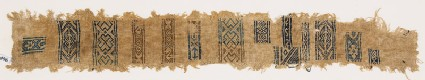 Sampler fragment with diamond-shapes, crosses, and S-shapes