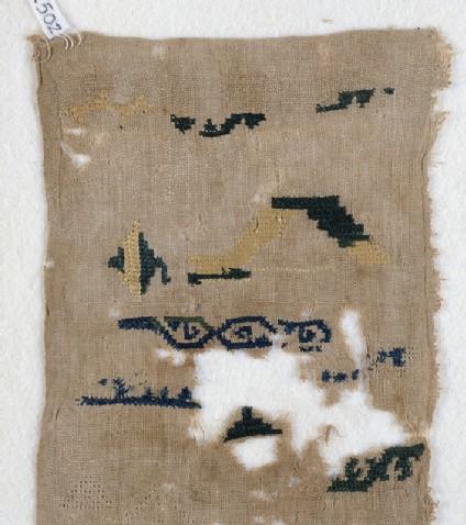 Sampler fragment with scrolls
