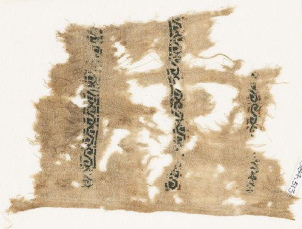 Textile fragment with vines and leaves