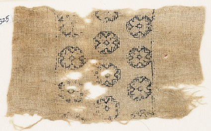 Textile fragment with three rows of octagons