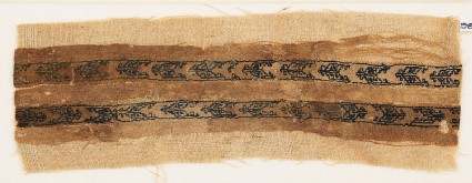 Textile fragment with two parallel bands of chevrons