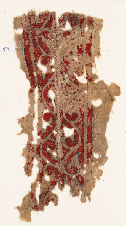 Textile fragment with vine or arabesque