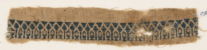 Textile fragment with arcade and niches