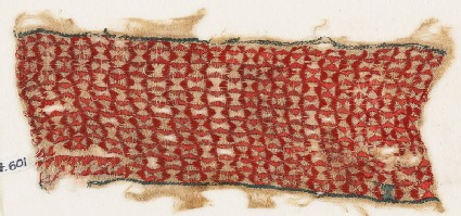 Textile fragment with linked pinwheels