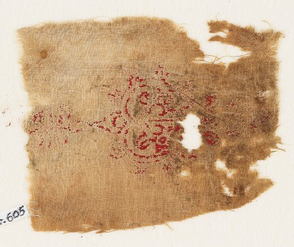 Textile fragment with heart