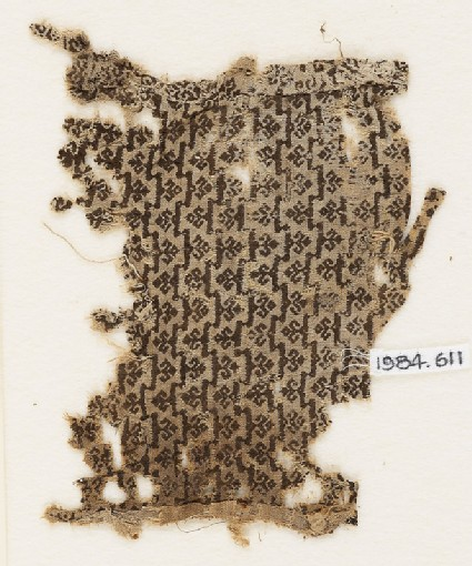 Textile fragment with trefoils
