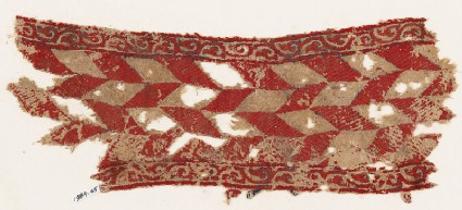 Textile fragment with lozenges