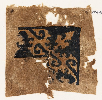 Sampler with vines, tendrils, and a leaf