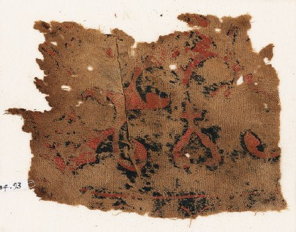 Textile fragment with arabesque
