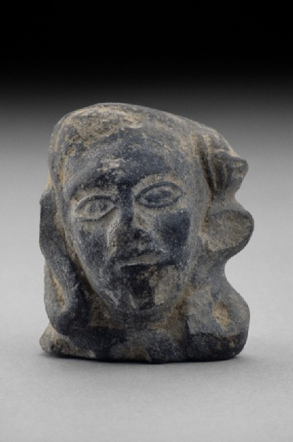 Head of a figure, perhaps male