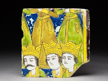 Frieze tile with crowned figures