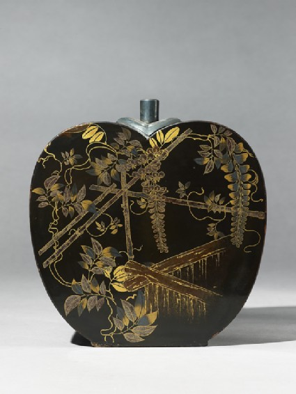Flask with wisteria