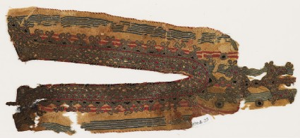 Textile fragment from the neck opening of a garment