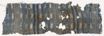 Textile fragment with stripes and diamond-shapes