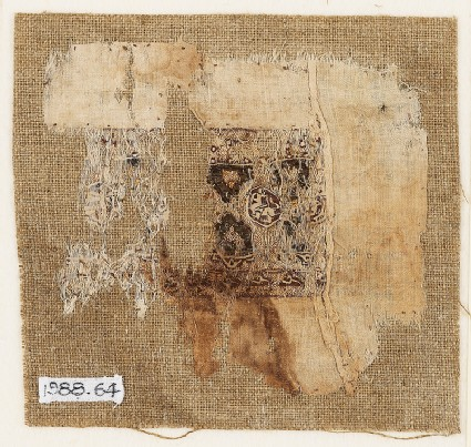 Textile fragment with band of decoration