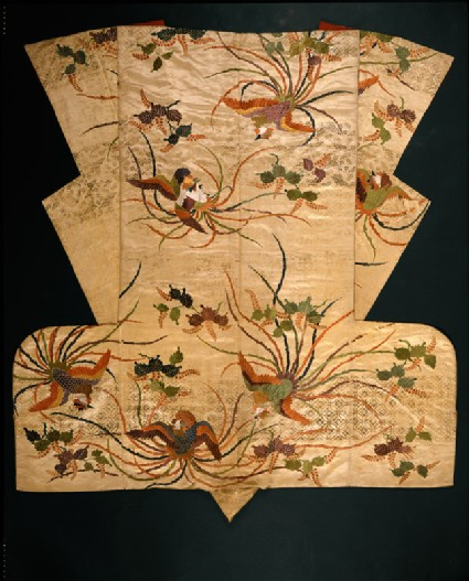 Nuihaku Nō robe with phoenixes and branches