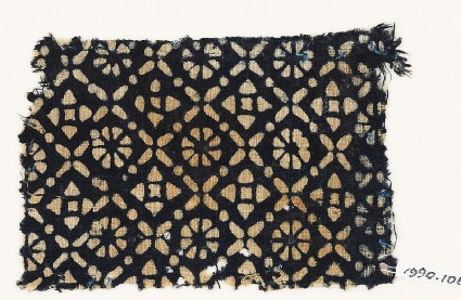Textile fragment with flowers, quatrefoils, and rosettes