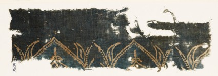 Textile fragment with arches and leaves