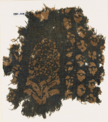 Textile fragment with large flower
