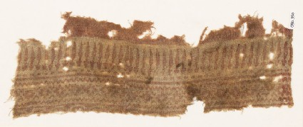 Textile fragment with spikes and diamond-shapes