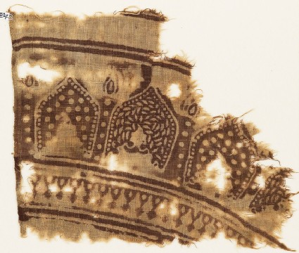 Textile fragment with arches