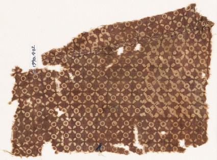 Textile fragment with quatrefoils and circles