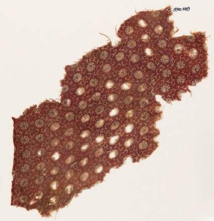 Textile fragment with small rosettes and tendrils