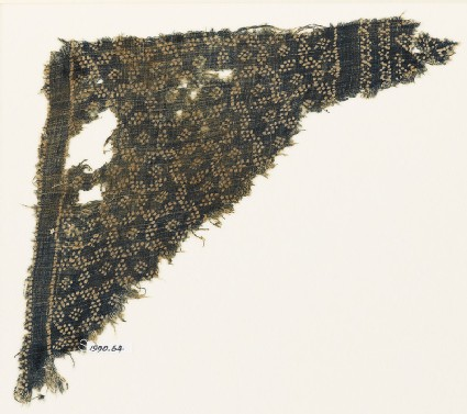 Textile fragment with star-shaped grid made of dots