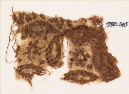 Textile fragment with rosettes and quatrefoils