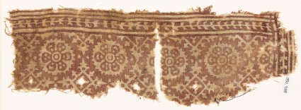 Textile fragment with rosettes and four-pointed stars